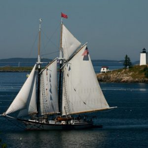 Schooner leaving harbor
