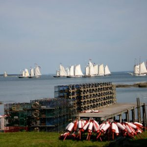 Sails in the distance.