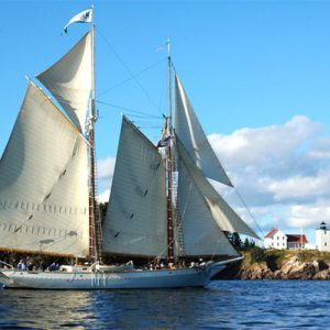 Schooner entering the harbor <i>Photo Credit: Donna Wiegle</i>