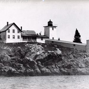 Late 1800s. Light station with range lights.