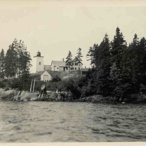 1940s? Boat House with dory.