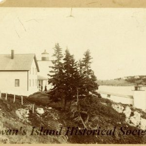 Late 1800s. Light station from the west.