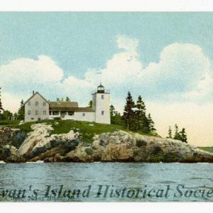 About 1903. Keeper's house linked to tower.