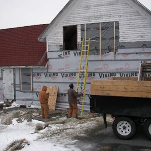 Windows removed for restoration. <i>Photo Credit: Chris Barstow</i>