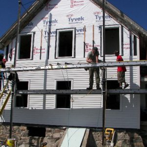 New siding. <i>Photo Credit: Chris Barstow</i>