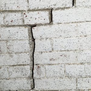 Step crack in masonry