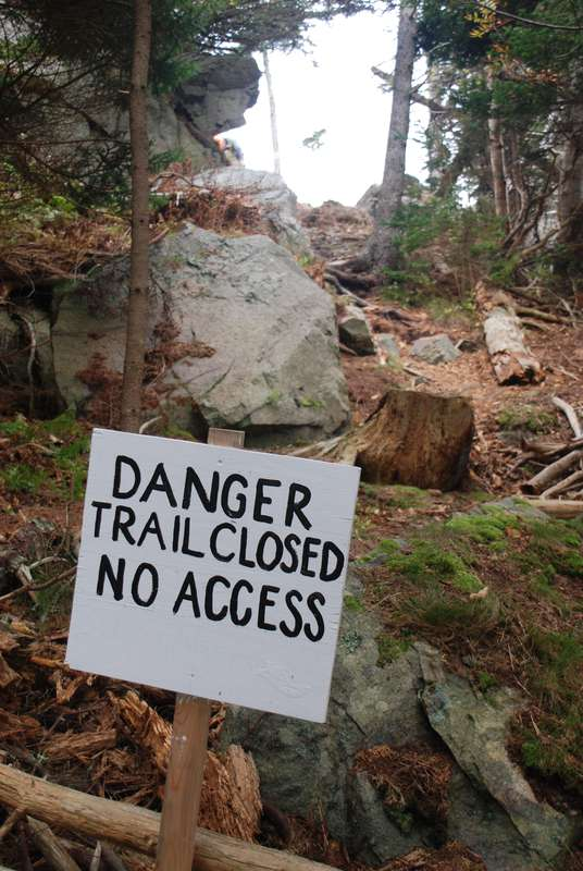 Danger Trail Closed No Access