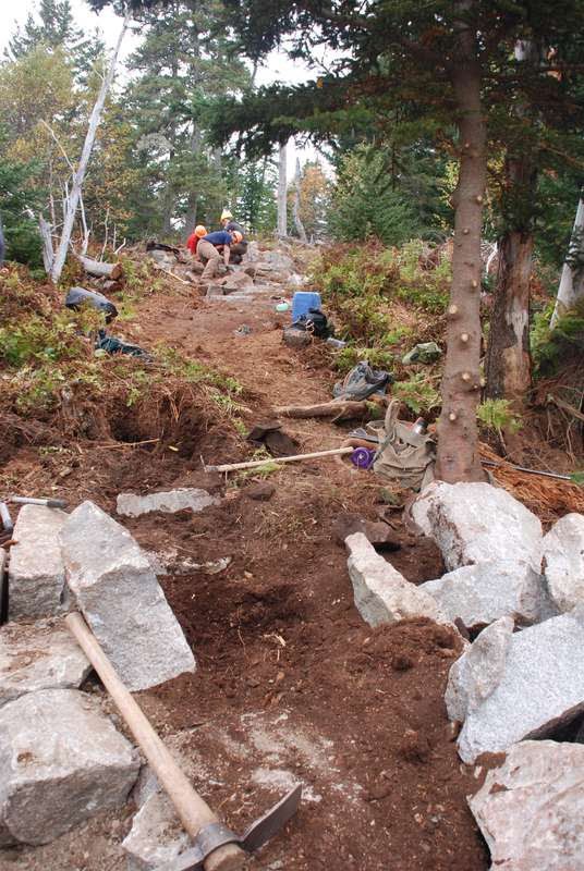 The trail takes shape